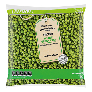 No Name Frozen Whole Green Peas 1kg