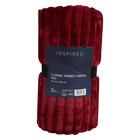 Inspired Ribbed Throw 150x180cm Red