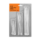 PnP Cable Ties Assorted White