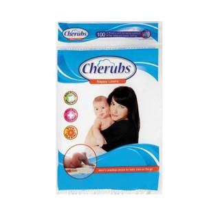 Cherubs Cuddle Soft Nappy Li ners 100