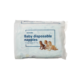 PnP No Name Baby Nappies Large 10-15kg 10s