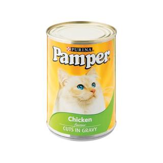 Purina Pamper Chicken Cuts in Gravy Tinn ed Cat Food 385g