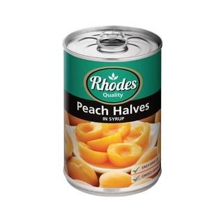 Rhodes Peach Halves In Syrup 410g