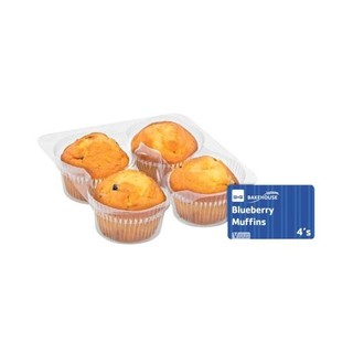 Pnp Bakehouse Blueberry Muffins 4ea