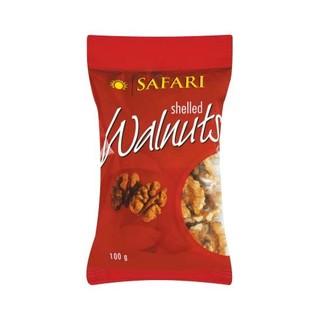 Safari Shelled Walnuts 100g