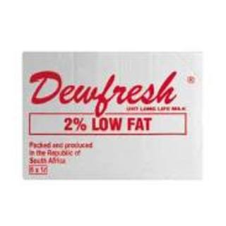 Dewfresh Long Life 2% Low Fat Milk 1l x 6