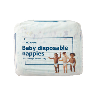 PnP No Name Baby Nappies Extra Large 15kg+ 25s