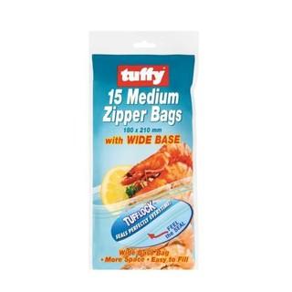 Tuffy Medium Zipper Bags 15ea