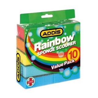 Addis Rainbow Sponge Scourer 10ea