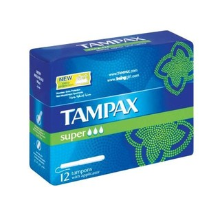 Tampax Applicator Tampons Super 12s