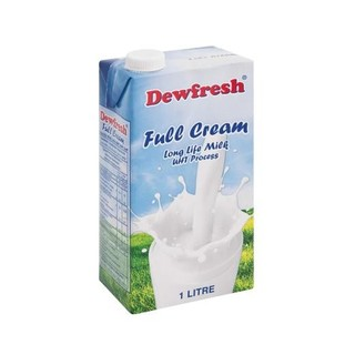 Dewfresh UHT Full Cream Long Life Milk  1l