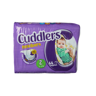 Cuddlers Newborn Diapers Size2 66 Ea