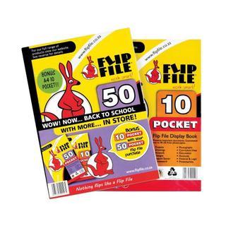 Flip File A4 50pk Bonus File 10 Pocket