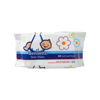Bennetts Baby Wipes Refill 80ea