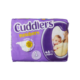 Cuddlers Newborn Diapers Size1 48 Ea