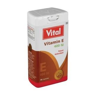 Vital Vitamin E E400 Antioxidant Capsules 30ea