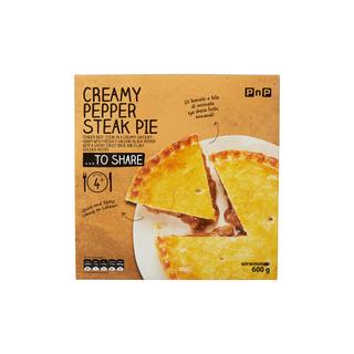 PnP Creamy Pepper Steak Pie 600g