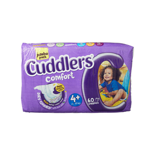 Cuddlers Comfort Diapers Size4+60 Ea
