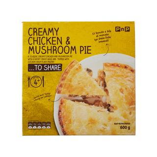 PnP Creamy Chicken & Mushroom Pie 600g