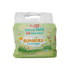 Bumbies Comfort Baby Wipes 60s x 4