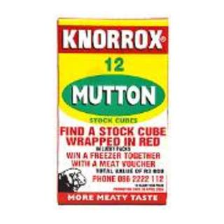 Knorrox Mutton Stock Cubes 12s