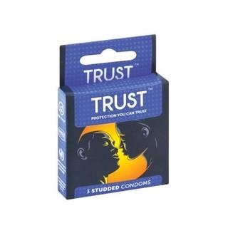 Trust Studded Male Condoms 3ea