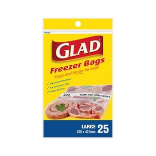 Glad Large Freezer Bags 330 X 420mm 25