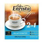 Cafe Enrista 2 in 1 Decaffeinated Coffee 10 x 12g Sachets