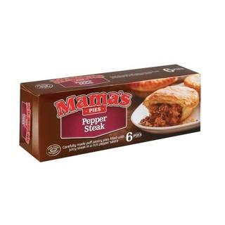 Mama's Frozen Pepper Steak Pies 6s