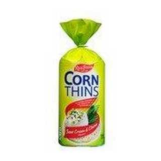 Real Foods Corn Thins Sour Cream & Chives 125g