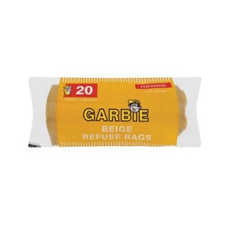 Garbie Beige Refuse Bags Rol l 750 X 950 Mm 20