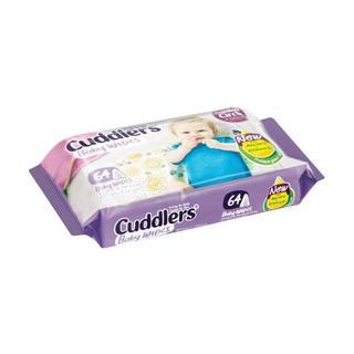 Cuddlers Baby Wipes 64ea