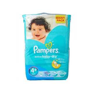 Pampers Active Baby Nappies Maxi+ Giant Pack 70s