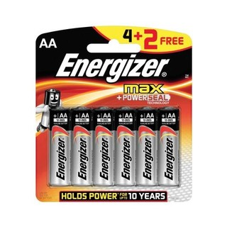 Energizer Batteries Max Aa 4+2