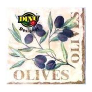 Dinu Olives Design Napkins 20ea