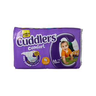 Cuddlers Comfort Diapers Size4 66 Ea