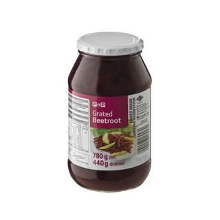 PnP Grated Beetroot 780g