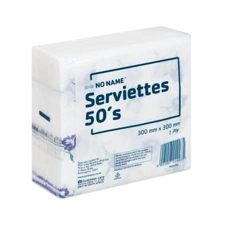 No Name White Print Serviett es 50
